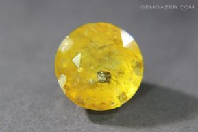Tourmaline, var: Dravite, yellow faceted with Pyrite inclusions, Afghanistan. 9.85 carats. **SOLD**